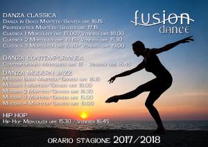orario danza 2017 2018
